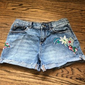 Old navy embroidered denim shorts